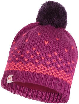 Buff Knitted & Full Polar Hat Hilda raspberry