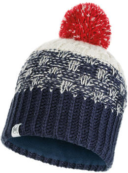 Buff Knitted & Band Polar Fleece Hat Tait dark denim