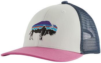 Patagonia Kids Trucker Hat fitz roy/bison white/marble pink