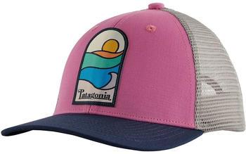 Patagonia Kids Trucker Hat sunset sets marble pink