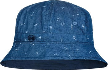 Buff Bucket Hat Kids arrows denim