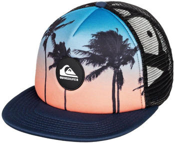 Quiksilver Psychic Patterns Kinder-Trucker-Cap (AQBHA03405) majolica blue