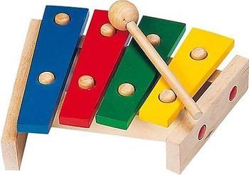 Goki Xylophon 4 farbige Tonplatten