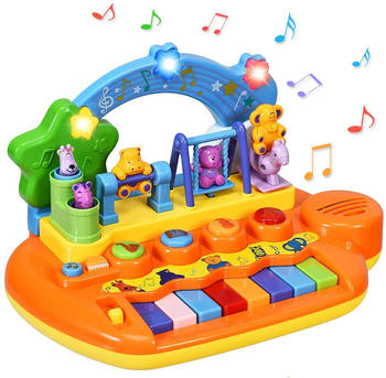 Costway Musikspielzeug Klaviertastatur mit integriertem Musikmodi