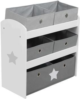Roba Spielregal Stars grau (450159D221)