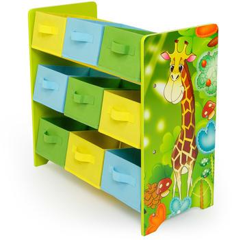 Homestyle4u Dschungel mit 9 Boxen (61x63cm) grün