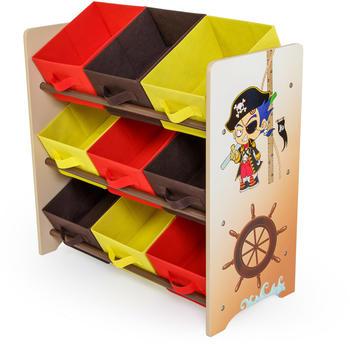 Homestyle4u Pirat mit 9 Boxen (61x63cm) beige