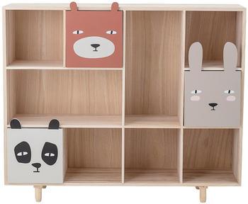 Bloomingville Bücherregal mit Tierschubladen (107x28x94 cm)