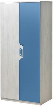 Josef Steiner Drehtürenschrank Justus 01 (183 x 80 x 52 cm) Kiefer Blau