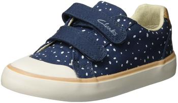 Clarks Comic Cool Inf navy canvas