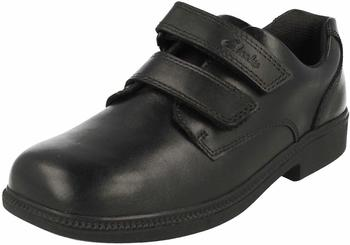 Clarks DeatonGate Jnr black leather