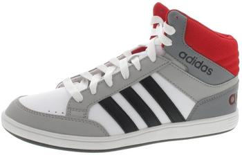 Adidas NEO Hoops Mid K footwear white/core black/scarlet red