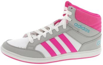 Adidas NEO Hoops Mid K footwear white/shock pink/energy blue