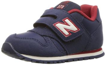 New Balance KJ373 navy with red