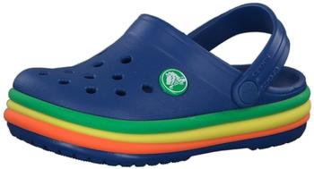 Crocs Kids Crocband Rainbow Band Clogs blue jean