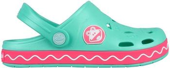 Coqui Shoes Kids Clogs froggy mint/new rouge