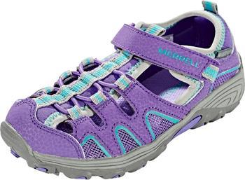 Merrell Hydro H2O Hiker Sandal (Little Kid) purple/grey