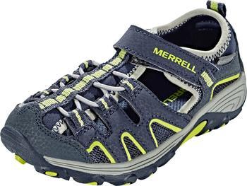 Merrell Hydro H2O Hiker Sandal (Little Kid) navy/lime