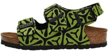 Birkenstock Milano Kids Mikrofaser Seaweed Black Green (Schmal)