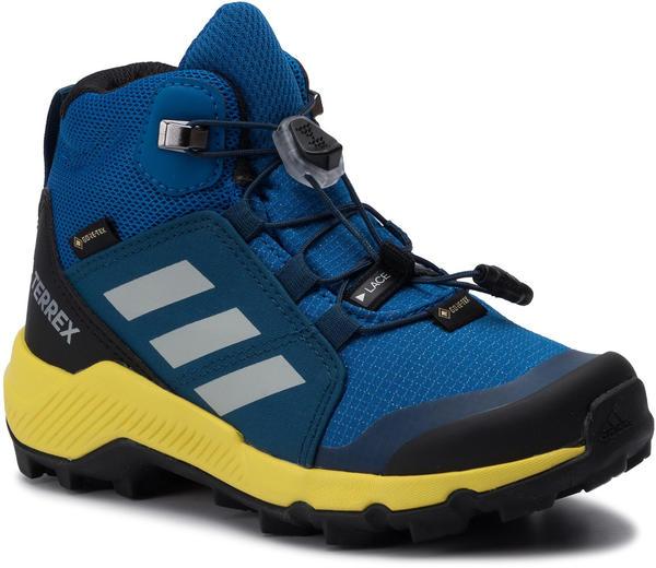 Adidas Terrex Mid GTX K blue beauty/grey one/shock yellow