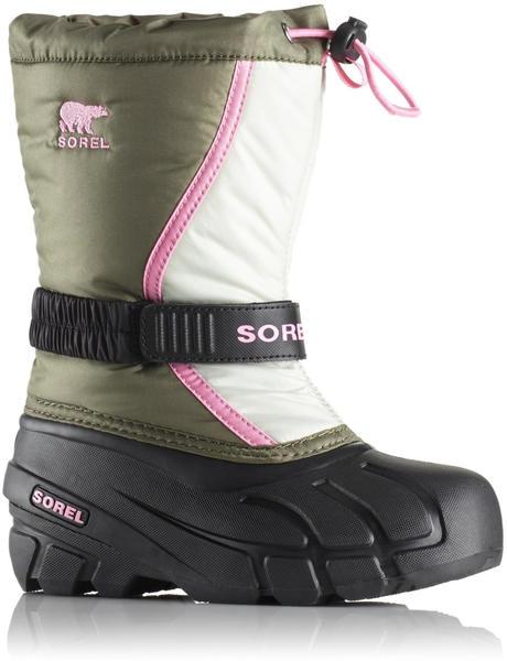 Sorel Youth Flurry hiker green/pink