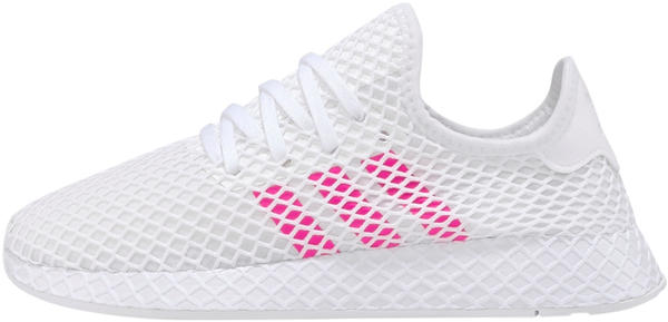 Adidas Deerupt Runner J cloud white/shock pink/core black