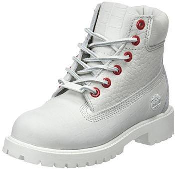Timberland Premium 6 Inch Boot For Junior white
