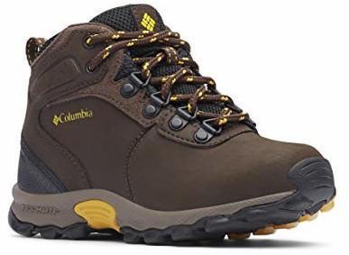 Columbia Children's Newton Ridge Shoe (1719312) cordovan/golden yellow