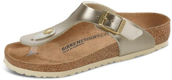 Birkenstock Gizeh Kids Birko-Flor electric metallic gold (schmal)