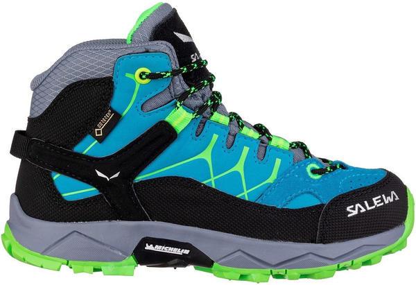 Salewa Alp Trainer Mid GTX Kids blue danube/fluo green