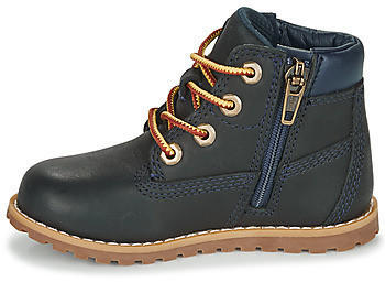 Timberland Pokey Pine Hook-and-Loop Boot 6-Inch Side Zip navy blue