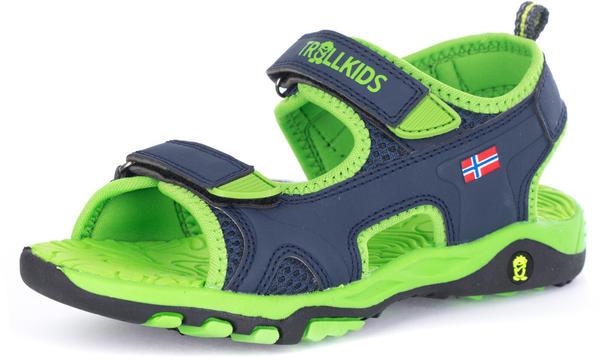 Trollkids Kindersandalen Orrestrand blau/grün (157-100)