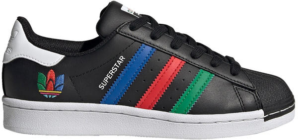 Adidas Superstar Junior core black/green/cloud white