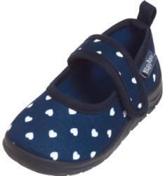 Playshoes Kinder-Hausschuhe blau/weiß (201813_11)