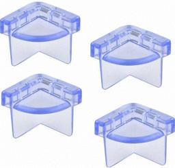 H+H (Olympia) Kantenschutz Glastisch 4 Stück