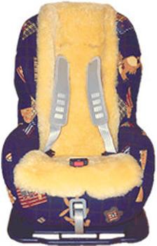 Lammfellauflage für Buggy oder Kinder-Autositz goldgelb Heitmannn