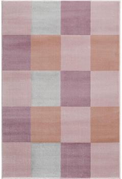 Livone Happy Rugs - Checkerboard rosa(120 x 180 cm)