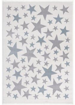 Livone Happy Rugs Stella creme/silbergrau/blau (120 x 180 cm)