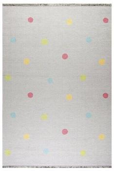 Livone Happy Rugs Love you Dots (100 x 160 cm) silbergrau/multi