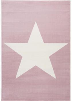 Livone Happy Rugs Shootingstar rosa/weiss (120 x 180 cm)