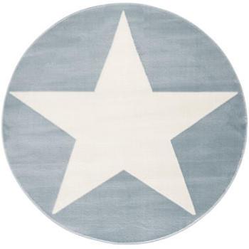 Livone Happy Rugs Shootingstar rund (ø 133 cm) blau/weiss