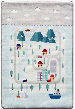 Livone Happy Rugs Playlove (90x130 cm) Mountain silbergrau