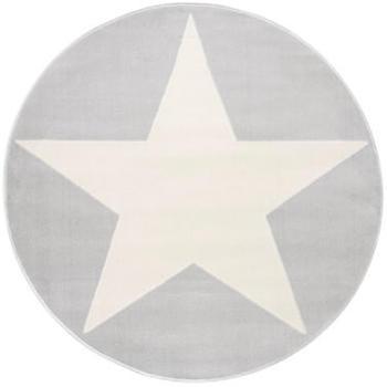 Livone Happy Rugs Shootingstar rund grau/weiss (ø 160 cm)