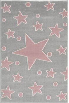 Livone Happy Rugs Estrella (100 x 160 cm) silbergrau/rosa