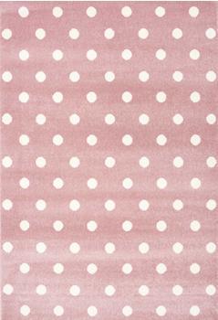 Livone Kids Love Rugs Circle rosa/weiß (120 x 170 cm)