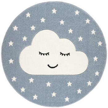Livone Kids Love Rugs Smiley Cloud blau/weiss(ø 160 cm)