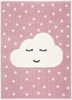 Livone Kids Love Rugs Smiley Cloud (120 x 170 cm) rosa/weiss