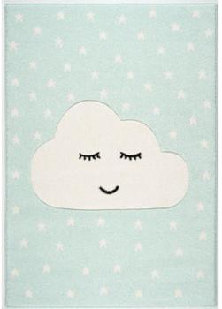 Livone Kids Love Rugs Smiley Cloud (120 x 170 cm) minz/weiss