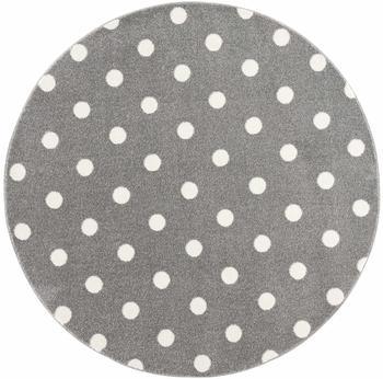Livone Happy Rugs Circle (ø 100 cm) silbergrau/weiß