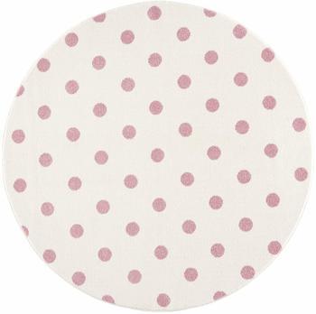 Livone Happy Rugs Circle (ø 100 cm) creme/rosa